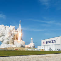 The first Falcon Heavy Launch in Feb 2018 from Launch Complex 39A at the Cape Canaveral Spaceport