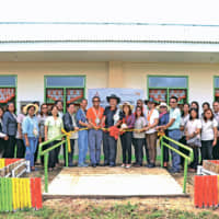 Inauguration of a new classroom building at the Camayse Elementary School, Samar province.