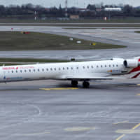 An Iberia Bombardier CRJ-1000 plane is seen on the tarmac at the Saint-Exupery airport in Colombier-Saugnieu near Lyon, France, in March. | REUTERS
