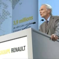 Jean-Dominique Senard, chairman of Renault SA, speaks during the French carmaker's shareholders meeting in Paris, France, on Wednesday. | RENAULT SA / VIA REUTERS