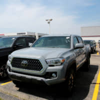 A 2018 Toyota Tacoma TRD 4x4 pick-up truck is seen for sale at the Toyota Suburban auto dealership in Farmington Hills, Michigan, in 2018. | REUTERS