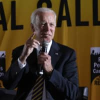 Democratic presidential candidate former Vice President Joe Biden speaks at the Poor People's Moral Action Congress presidential forum in Washington Monday. | AP