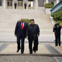 Trump becomes first sitting U.S. leader to enter North Korea