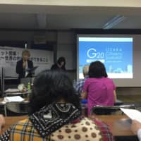 The G20 Osaka Citizens' Summit, in session Wednesday, focused on encouraging world leaders to listen to the voices of ethnic, linguistic and religious minorities, as well as refugees and the elderly. The two-day event wrapped up the same day ahead of the G20 leaders summit set to start Friday. | ERIC JOHNSTON