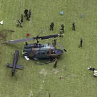 No injuries or fire reported after Ground Self-Defense Force helicopter crashes at west Tokyo base