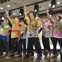 Members of Obachaaan, an Osaka-based group of women aged 66 years on average, have released a rap music video in English called 'Oba Funk Osaka.' | KYODO
