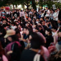 A protest in Shibuya against Hong Kong's proposed extradition law.   RYUSEI TAKAHASHI
