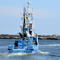 A whaling vessel departs from Abashiri port in eastern Hokkaido on June 1 to take part in the last round of what Japan calls research whaling off the Pacific coast ahead of the country's withdrawal from the International Whaling Commission at the end of June, followed by a return to commercial whaling. | KYODO