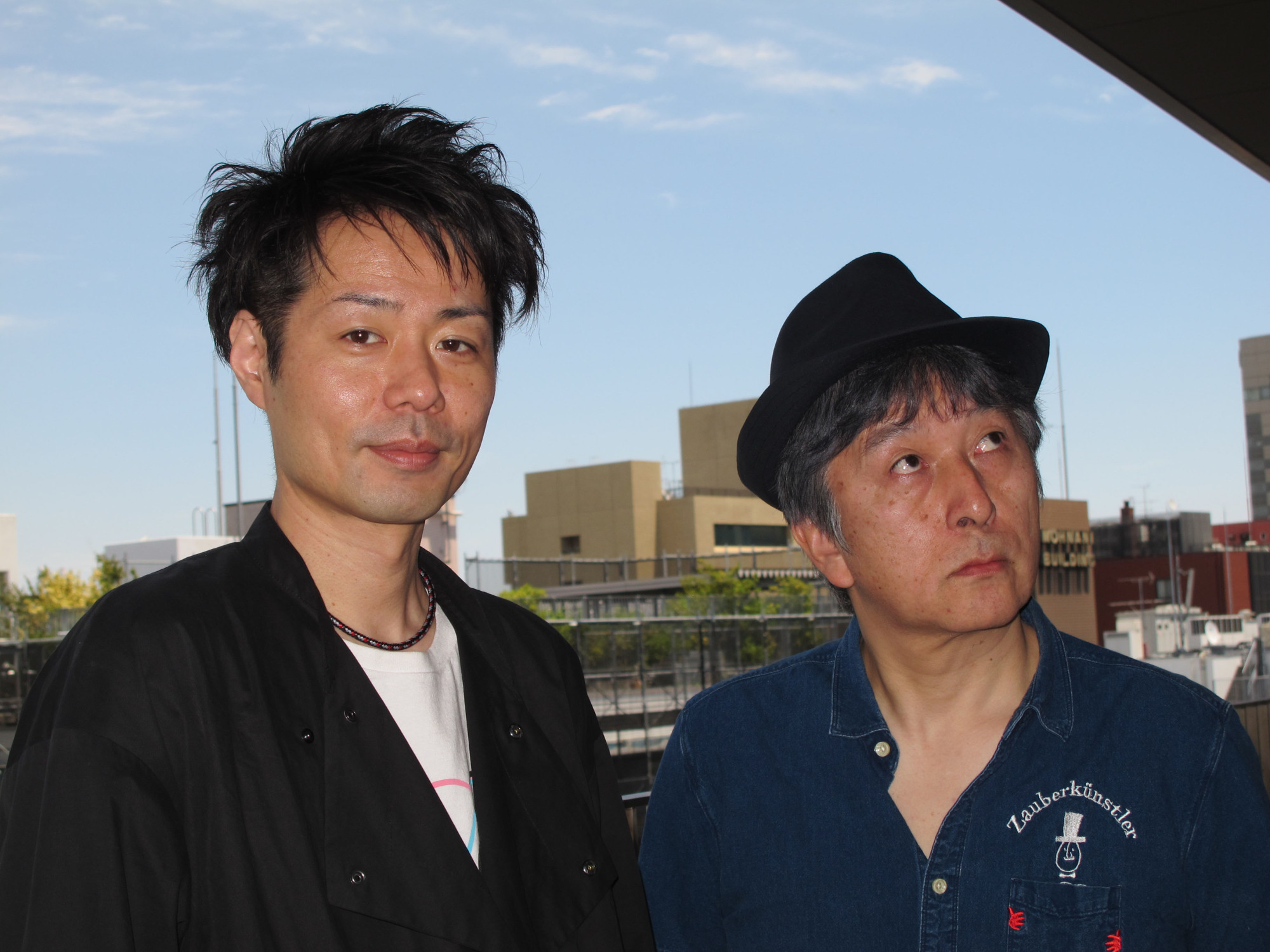Looking forward: Director Junnosuke Tada (left) and actor Hiroo Ohtaka are working together on one  of two modern productions of Samuel Beckett's 'Waiting for Godot.' | NOBUKO TANAKA