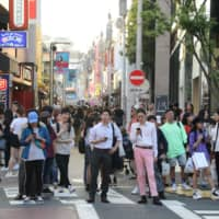 Demand for Japanese-language education is expected to keep increasing as the foreign population grows. | AFP-JIJI