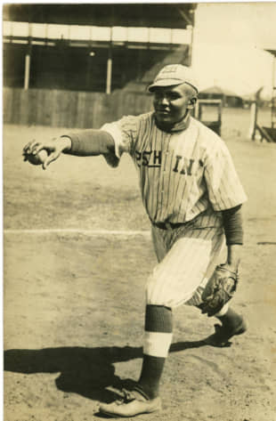 Good sport: Baseballer Robert Fagen was one of the cohort of black players that joined the Philadelphia Royal Giants' 1927 tour to Japan. | GENTLE BLACK GIANTS / FORT HUACHUCA MUSEUM