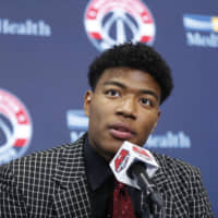 Rui Hachimura being selected in the first round of the NBA Draft by the Washington Wizards last week represented a watershed moment for basketball in Japan. | AP