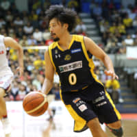 Brex point guard Yuta Tabuse, seen in a file photo, is embarking on his 12th season with the club. | B. LEAGUE