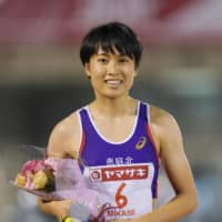 Women's 100-meter national champion Midori Mikase captured the title with a time of 11.67 seconds in the final on Friday.   KYODO