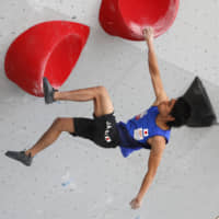 Tomoa Narasaki earns second overall World Cup bouldering title
