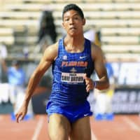 University of Florida's Abdul Hakim Sani Brown advances to 100-meter final at NCAA championships