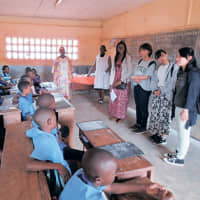 Sophia students during study tours in Africa. | SOPHIA UNIVERSITY