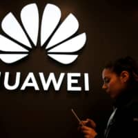 A Huawei store in Vina del Mar, Chile, is seen Sunday. | REUTERS
