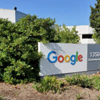 A sign is pictured outside a Google office near the company's headquarters in Mountain View, California, in May. | REUTERS
