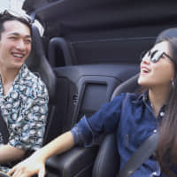Fun with the top down: Ruka and Haruka take the convertible car out for a date on 'Terrace House Tokyo 2019-2020.' | © FUJI TELEVISION / EAST ENTERTAINMENT