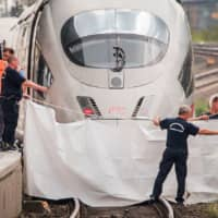 Man pushes boy in front of train at Frankfurt station