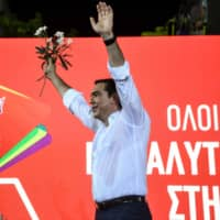 Leftist Alexis Tsipras' days in power appear numbered as Greeks hold snap election