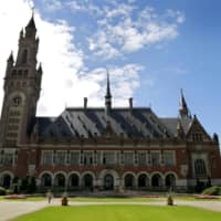 The Peace Palace, the seat of the International Court of Justice in The Hague, Netherlands | AP / VIA KYODO