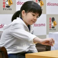 Japan's youngest pro go player, Sumire Nakamura, claims first win