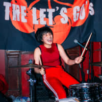 Hey ho, let's go: Drummer Mariko Mariko is a recent addition to the band, which has seen multiple lineup changes. | AMY NGUYEN