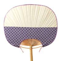 Ichimatsu checkers Checkered patterns were popularized by kabuki actor Sanogawa Ichimatsu, who favored them for his stage wear. Rendered in cotton on the lower half of this Yamato-type fan, this one features the Ibasen crest.
