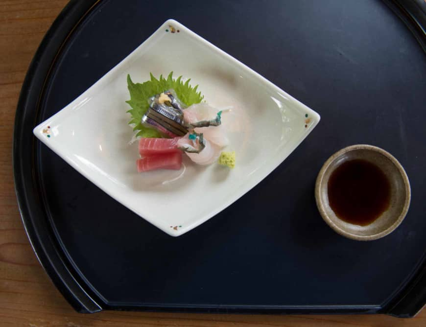 An evolving plate: Sui Dunchi also serves sashimi, which was a later addition to court cuisine. | STEPHEN MANSFIELD