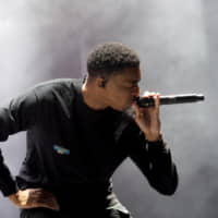 Vince Staples gives an intense and confessional performance on the White Stage.   MARK THOMPSON