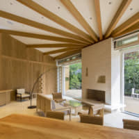 The Grand Room of Shishi-Iwa House is complete with a range of furniture designed by architect Shigeru Ban. | COURTESY OF SHISHI-IWA HOUSE