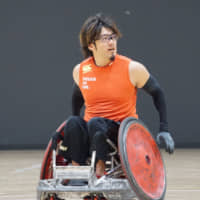 Daisuke Ikezaki, a wheelchair rugby player who helped Japan earn a bronze medal at the Rio 2016 Paralympics and the world title in 2018, is aiming to win another medal during the 2020 Summer Paralympics in Tokyo. | MITSUBISHI CORP.