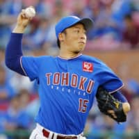 Eagles' Manabu Mima loses perfect game in ninth, hangs on for victory