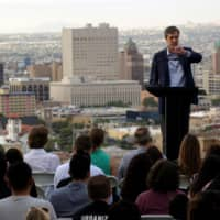 Democratic 2020 U.S. presidential candidate Beto O'Rourke addresses the nation in El Paso, Texas, Wednesday. | REUTERS
