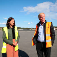 Avinor Chief Executive Dag Falk-Petersen is seen at Arendal's airport, after Norway's first battery-powered aircraft piloted by him crash-landed on a lake in Nornestjonn, Arendal, Norway, Wednesday. | NTB SCANPIX / HAKON MOSVOLD LARSEN / VIA REUTERS