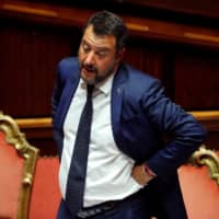 Italy's Matteo Salvini says government is finished and he wants elections