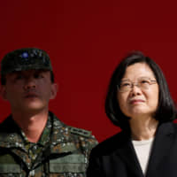 Taiwanese President Tsai Ing-wen visits the 6th Army Command ahead of Lunar New Year in Taoyuan in January. The president's Cabinet has signed off on an 8.3 percent increase in military spending for the year starting January to 411.3 billion New Taiwan dollars ($13.11 billion). | REUTERS