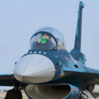 An F-2 fighter jet of the Air Self-Defense Force | KYODO