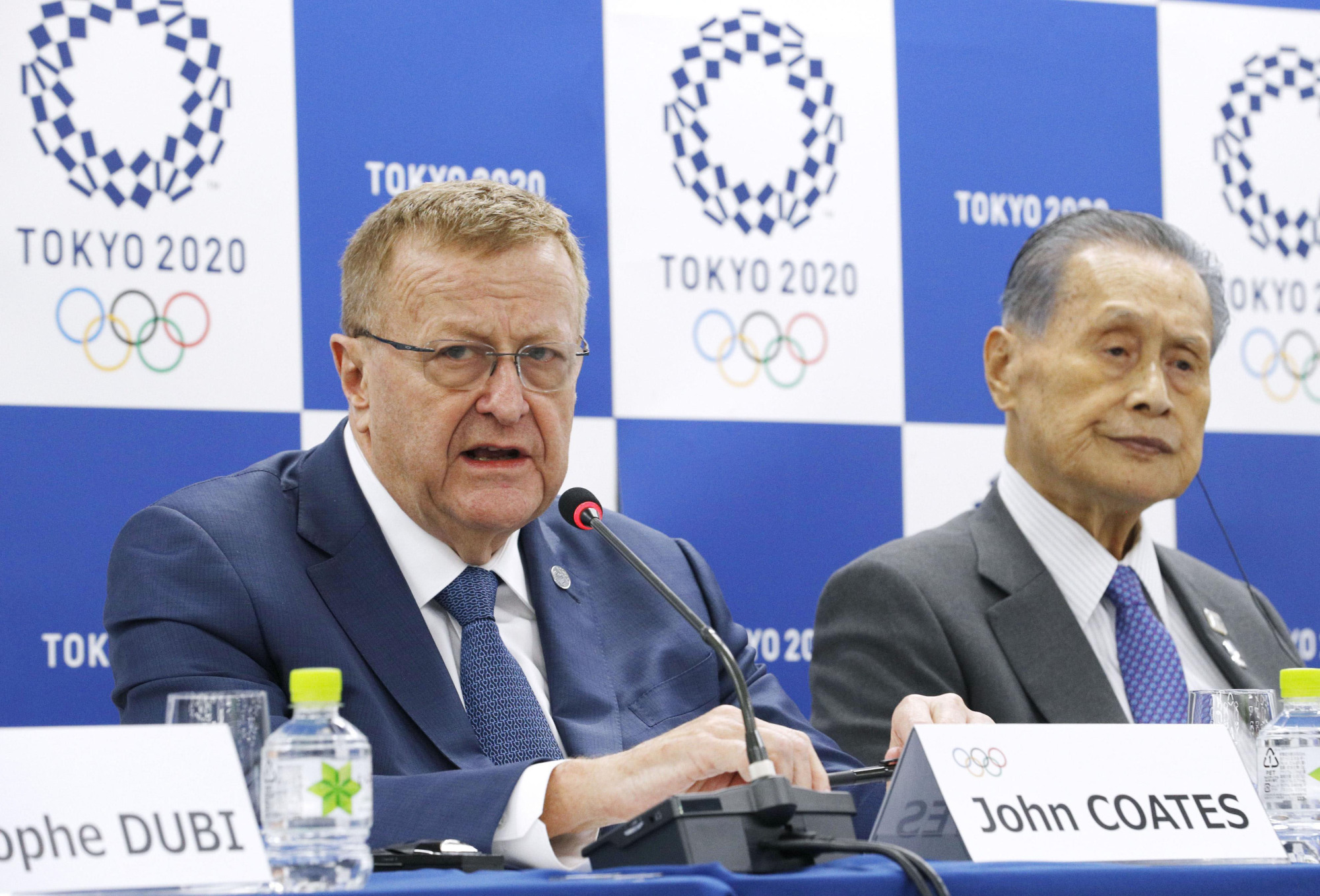In the long run: The International Olympic Committee's John Coates speaks at a news conference in Tokyo.   KYODO