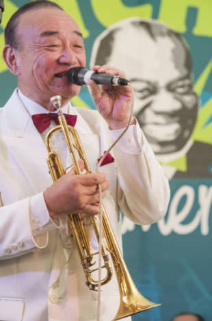 Blowing his own trumpet: Yoshio Toyama has appeared numerous times at Satchmo SummerFest in New Orleans. | RYAN HODGSON-RIGSBEE