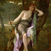 Alexandre Cabanel's 'Diana Hunting' (1882) | TOCHIGI PREFECTURAL MUSEUM OF FINE ARTS