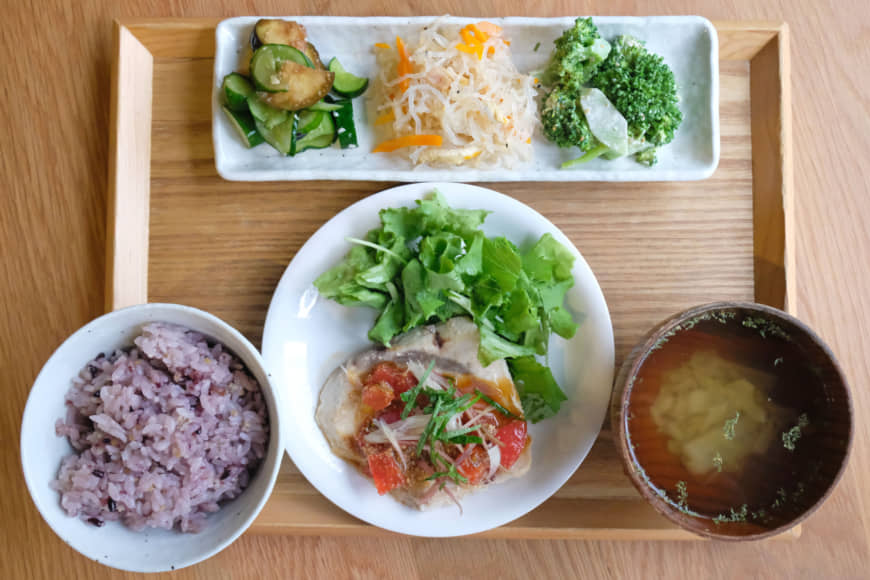 Homemade and healthy: Tiny Peace Kitchen's set meal comes with a main, three veg-heavy sides, rice and soup. | CLAIRE WILLIAMSON