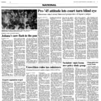 Japan Times 1994: Juliana's Tokyo closes after police crack down on dress code