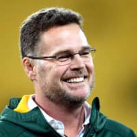 South Africa coach Rassie Erasmus smiles after a Rugby Championship match against New Zealand in Wellington in September 2018. | REUTERS