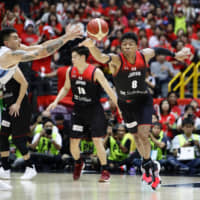Forward Rui Hachimura is a dynamic presence for the Japan men's national team at both ends of the floor. | KYODO