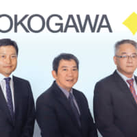 Masaru Matsukawa, Deputy Managing Director; Preechai Trannitad, Managing Director; Sakchai Wongakard, Executive Director of Yokogawa (Thailand) Ltd. | © SMS