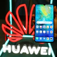 The Huawei Mate 20 X (5G) is pictured at the IFA consumer tech fair in Berlin Sept. 5. | REUTERS