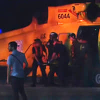 Injured people from a clinic in Great Abaco Island's Marsh Harbour arrive after being evacuated in a U.S. Coast Guard helicopter to be treated in Nassau Monday. | REUTERS